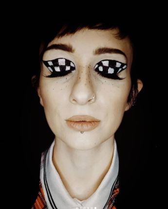 Chequered Eyes inspired by the SKA symbol